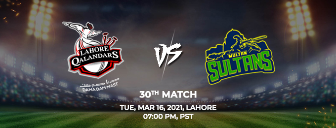 lahore qalandars vs multan sultans 30th match (psl 2021)