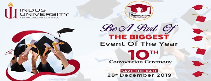 10th convocation, indus university 2k19