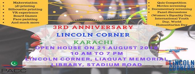 lincoln corner karachi 3rd anniversary