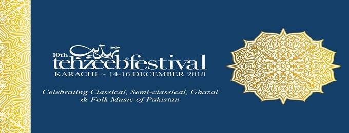 10th tehzeeb festival - karachi ~ 14-16 december 2018