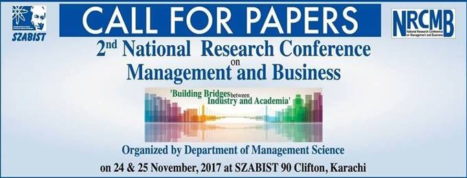 2nd National Research Conference on Management & Business