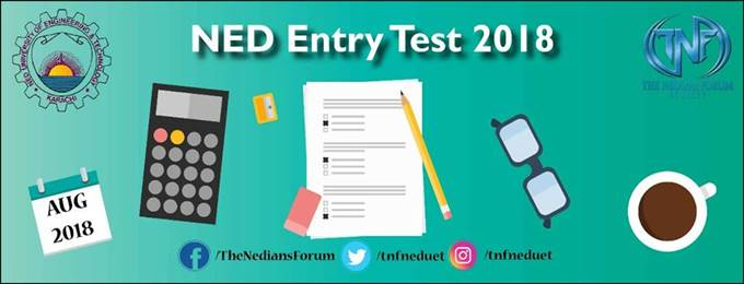 ned university admissions test 2018