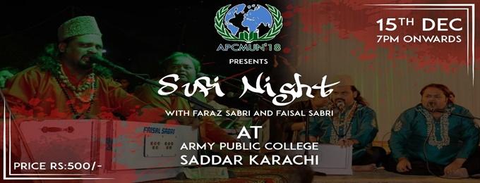 sufi night - apcmun'18