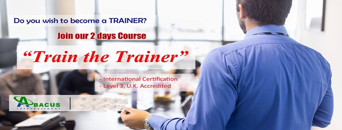 train the trainer - uk accredited