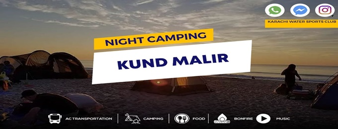 night camping at kund malir beach