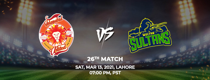 islamabad united vs multan sultans 26th match (psl 2021)