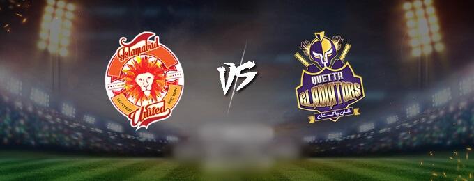 Quetta Gladiators VS Islamabad United 1st Match (PSL 2020)