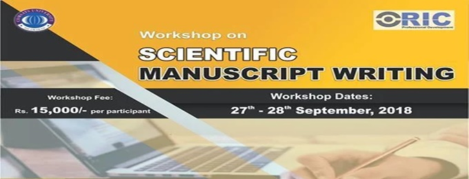 workshop on scientific manuscript writing