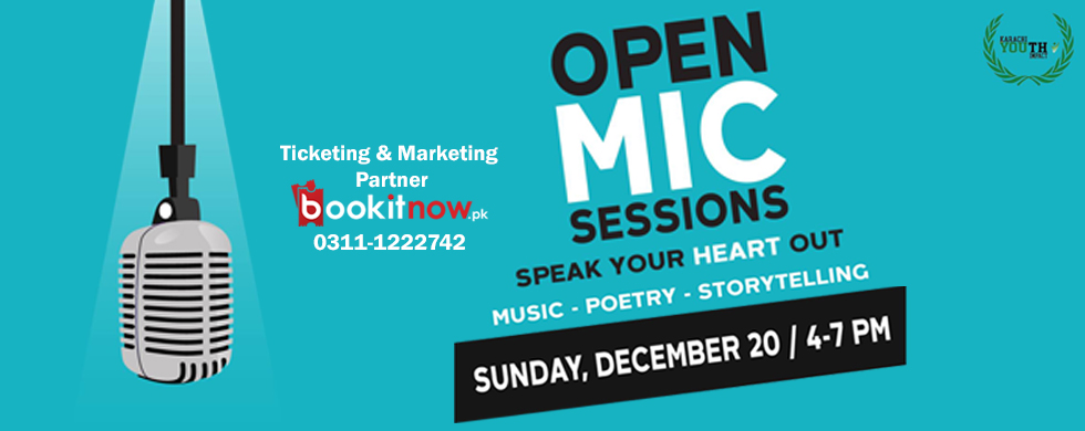 """open mic """"speak your heart out"""""""