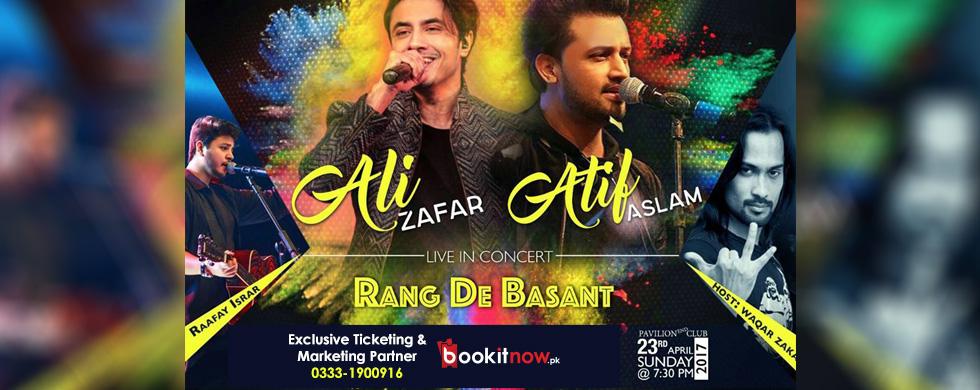 atif aslam and ali zafar live in karachi - rung de basant