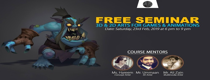 free seminar on vfx, 2d & 3d arts for games & animations