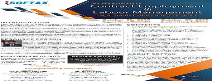 workshop on contract employment & labour management