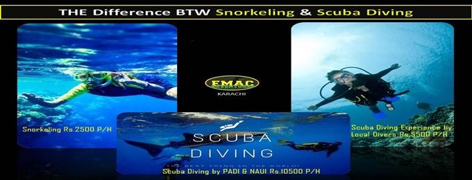 scuba diving & snorkeling | karachi