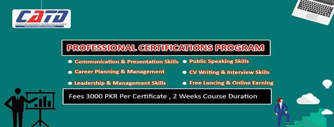 professional certifications program