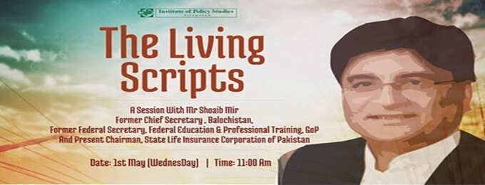 the living scripts - a session with mr shoaib mir