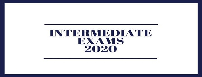 Intermediate Exams 2020