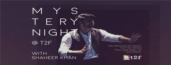 mystery night at t2f with shaheer khan