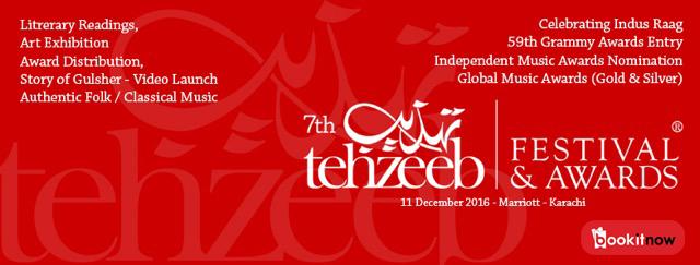7th tehzeeb festival & awards 2016