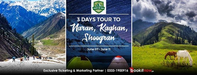 3 days tour to naran, kaghan, shoogran