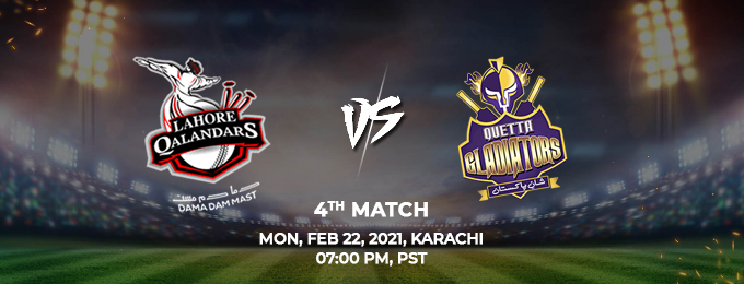 Lahore Qalandars VS Quetta Gladiators 4th Match (PSL 2021)