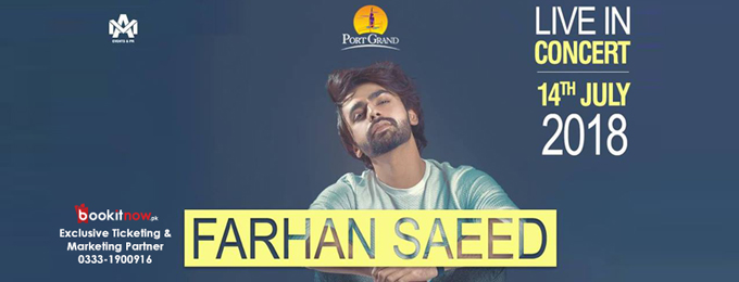 Farhan Saeed Live in Concert at Port Grand