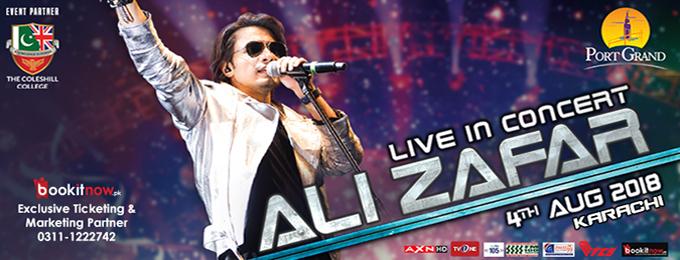 Ali Zafar Live Concert at Port Grand - 2018