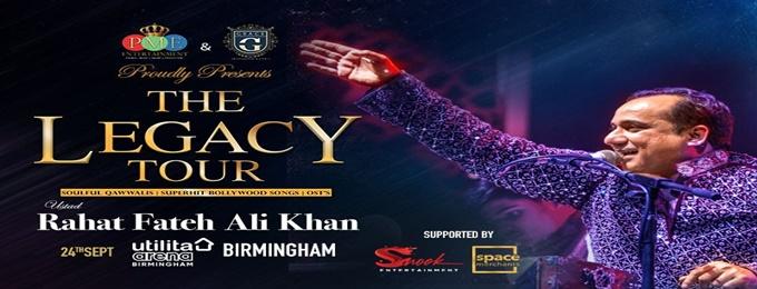 the legacy tour 2021 - ustad rahat fateh ali khan