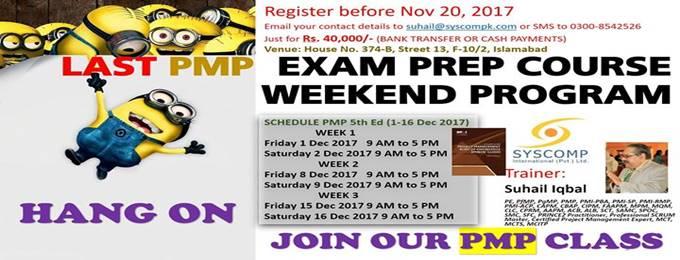 last pmp5 weekend program 1-16 dec 2017