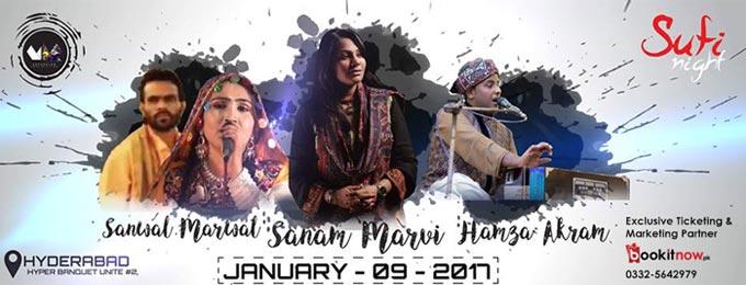 Sanam Marvi & Humza Akram - Live in Sufi Night Hyderabad