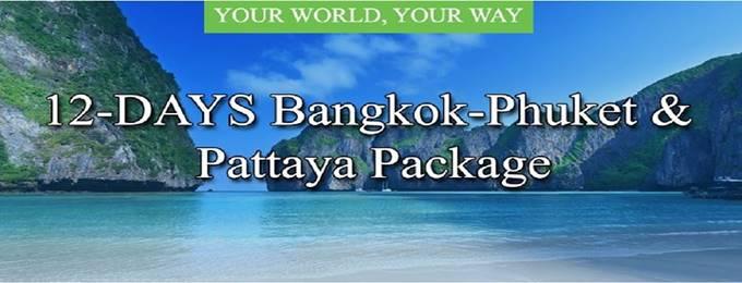 12 Days Bangkok-Phuket & Pattaya Package
