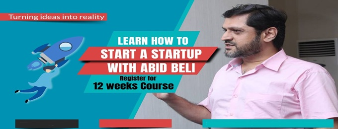 learn how to start a startup with abid beli in just 12 weeks