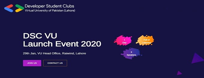 grow with google - launching event of dsc vu (lahore)