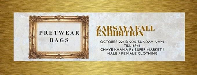 zarsaya fall exhibition