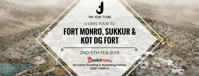 4 days tour to fort monro, sukkur & kot dj fort
