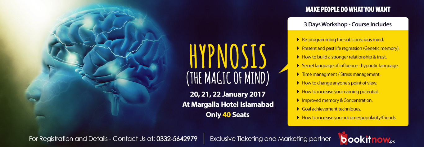 hypnosis workshop islamabad