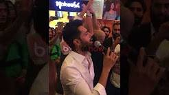 Fahad Mustafa singing National Anthem on 14th August