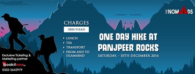 one day hike at panjpeer rocks islamabad