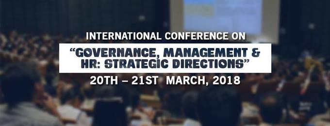 intl. conference on governance, management & hr