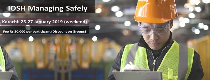 karachi: iosh managing safely training (in lowest cost ever)
