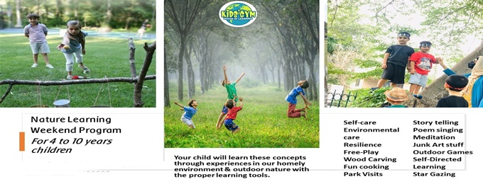nature-based learning weekend classes for 4-10 years kids
