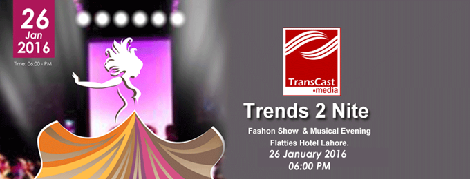 trends2nite fashion show & musical evening lahore