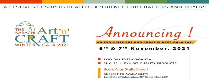 the karachi art 'n' craft winter gala 2021