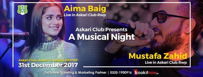 Mustafa Zahid & Aima Baig Live in Askari Club Rawalpindi