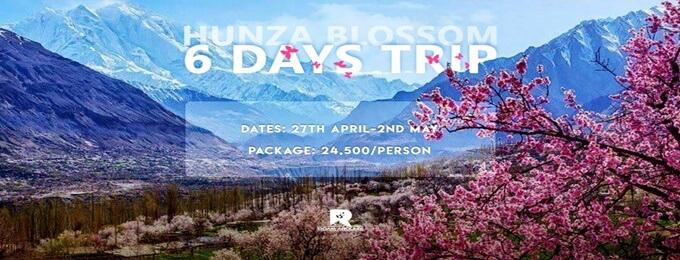 6 days hunza blossom trip