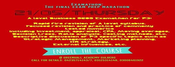workshop for a level business 9609: examathon p3