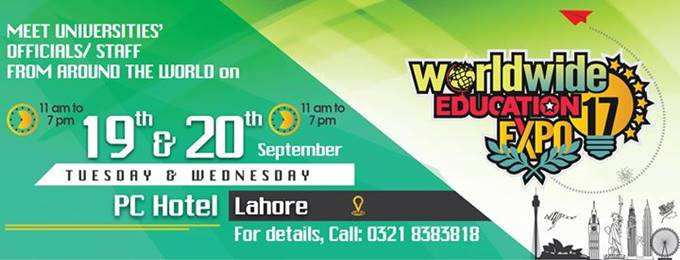 Worldwide Education Expo 2017 in Lahore