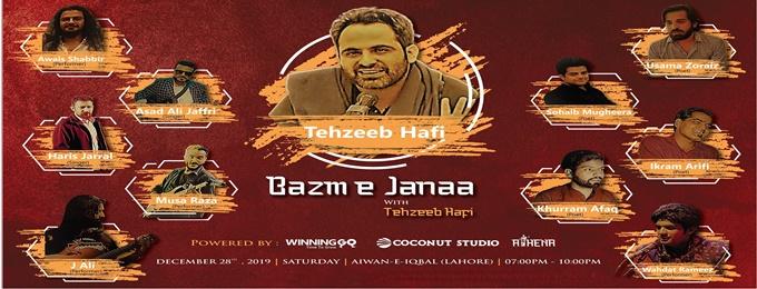 bazm e janaa with tehzeeb hafi