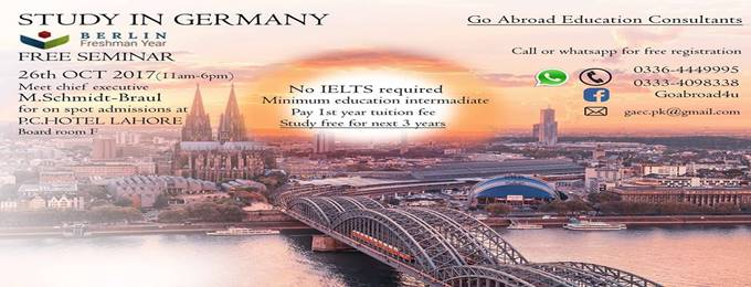 join free seminar to study in germany