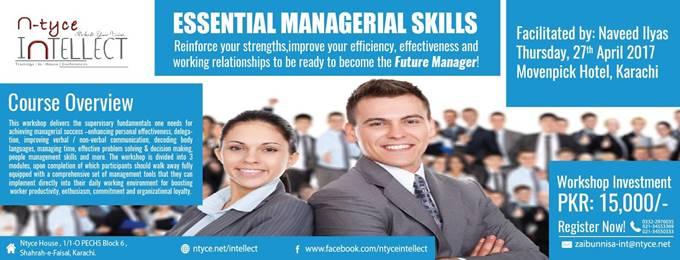 essential managerial skills
