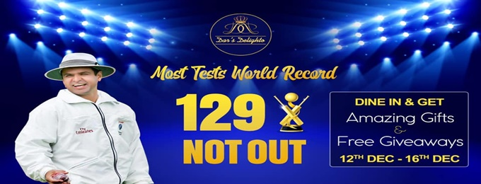 129 not out at dar's delighto restaurant
